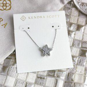 Jae Star Necklace Silver Platinum Drusy